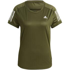 adidas OWN The Run T-Shirt Dames, olijf